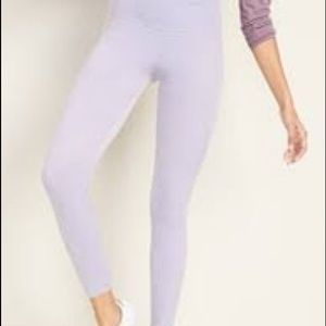 Old navy velvet leggings lavender xl High rise